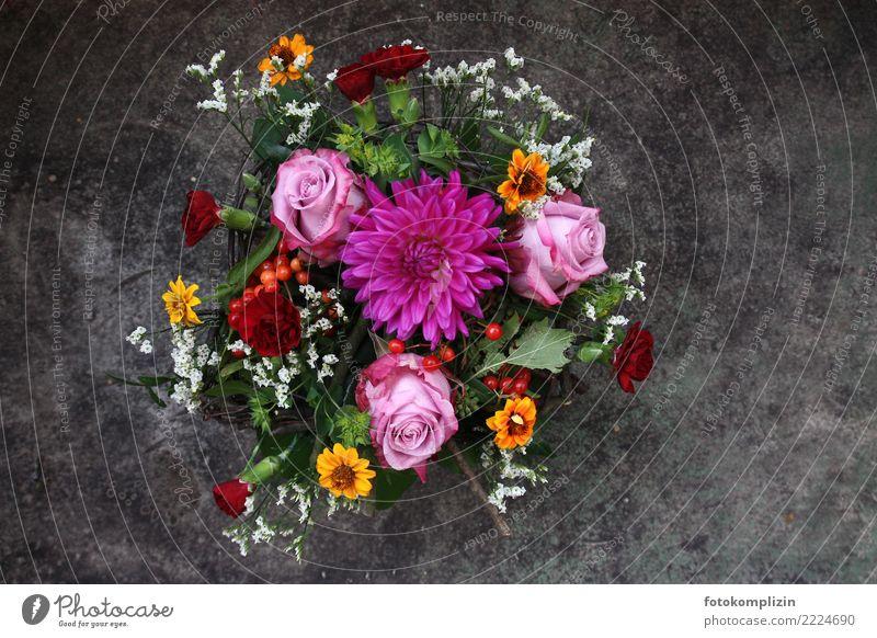 blumen_rosen-2 schön Blume Blüte leuchten Blühend Romantik Hochzeit Rose Blumenstrauß verblüht Dahlien Schleierkraut