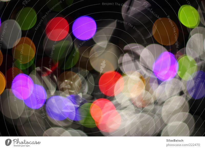 Discolights Lampe Licht Kunst hell verrückt Leben Farbfoto Gedeckte Farben mehrfarbig Textfreiraum Mitte Starke Tiefenschärfe rund Strukturen & Formen
