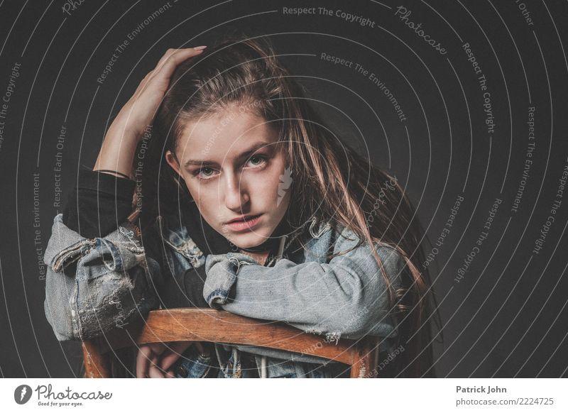 Teen One Mensch Jugendliche Junge Frau schön Erotik Einsamkeit natürlich feminin Schule Stimmung Freundschaft 13-18 Jahre blond Sex Coolness Sicherheit