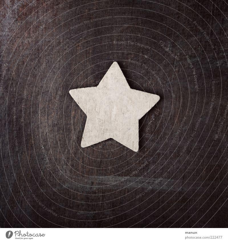 Holz-Q natürlich Holz Textfreiraum authentisch einfach Stern (Symbol) Zeichen Frieden festlich Originalität friedlich Weihnachtsdekoration Zacken Weihnachtsstern Strukturen & Formen
