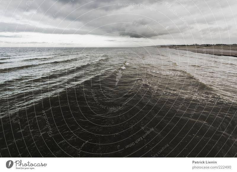 Will there be enough water? Natur Himmel Wasser Strand Meer Wolken Ferne dunkel Herbst Landschaft Regen Luft Stimmung Küste Wellen Umwelt