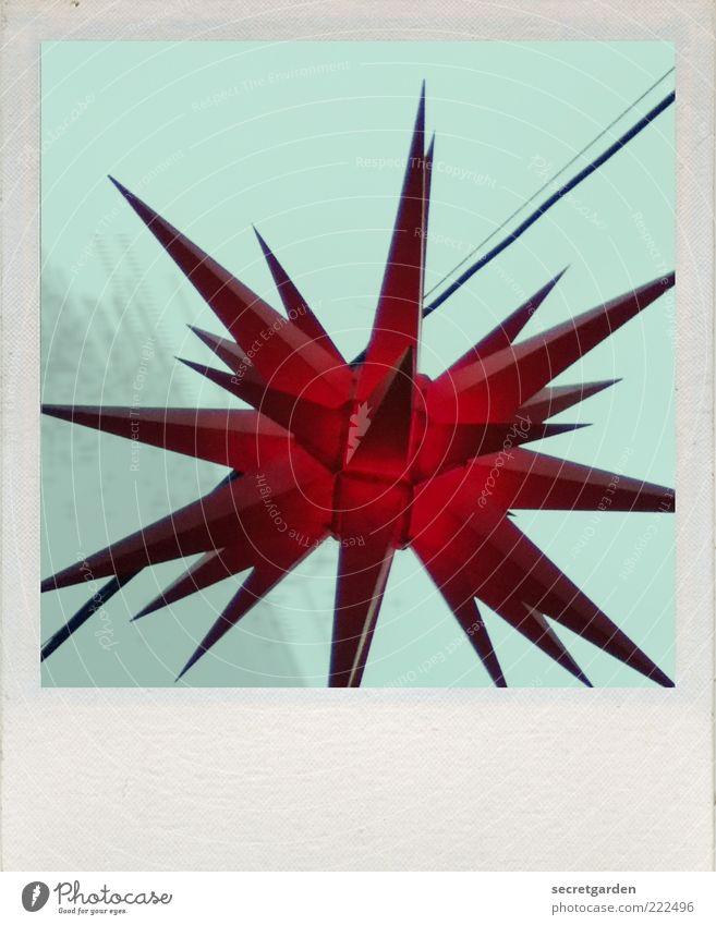 noch 27 tage. Himmel Dekoration & Verzierung leuchten dunkel schön Kitsch Spitze stachelig trist blau rot Kunst Surrealismus Tradition Stern (Symbol) türkis