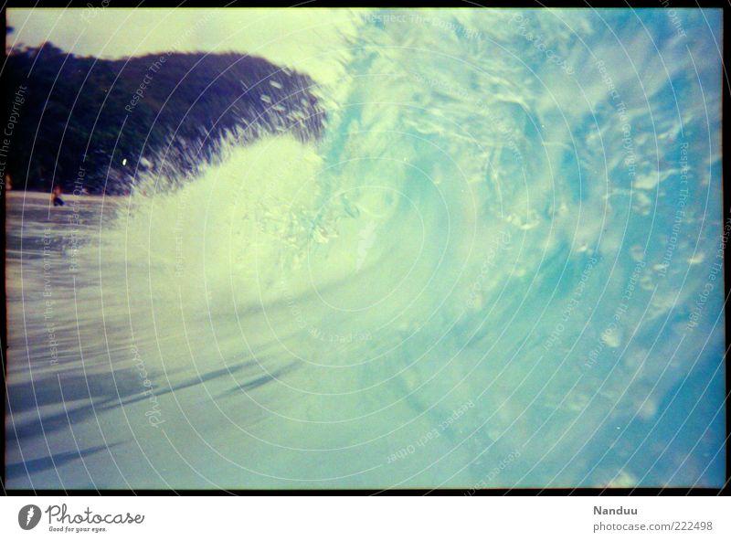 wild Wasser Strand Meer Wellen nass Schwimmen & Baden Afrika brechen spritzen Brandung Gischt Experiment Seychellen Tsunami Indischer Ozean