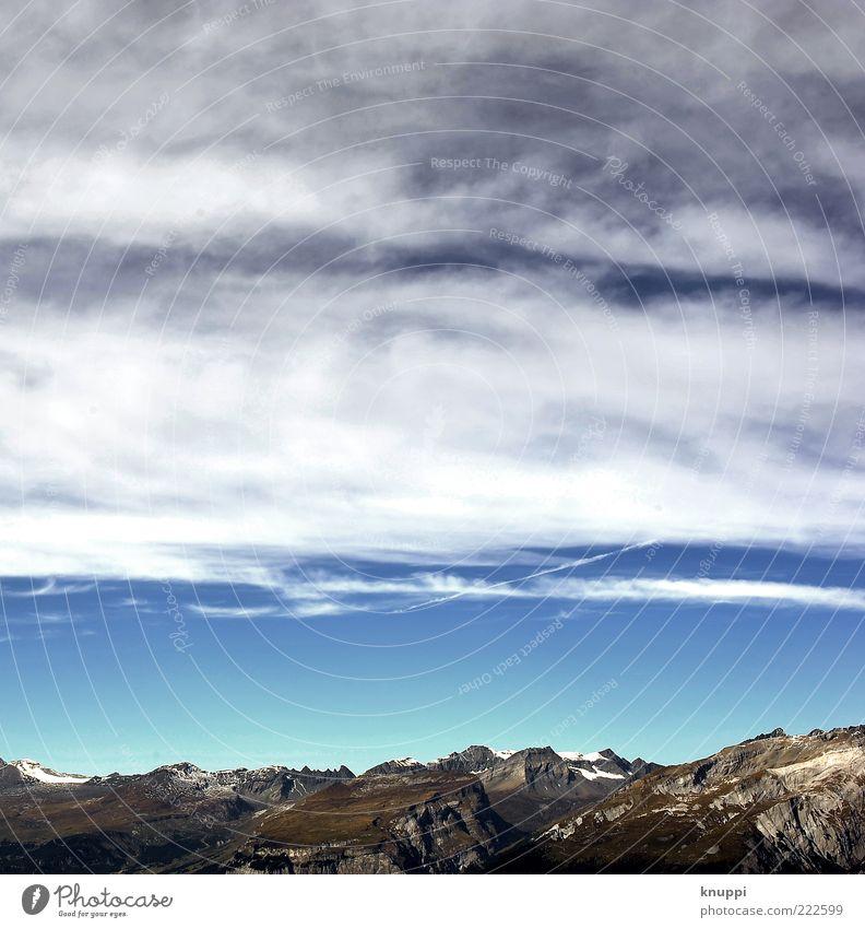 Bergkette Natur Himmel weiß blau Ferien & Urlaub & Reisen ruhig Wolken Ferne Herbst Berge u. Gebirge Freiheit grau Landschaft braun Umwelt Horizont