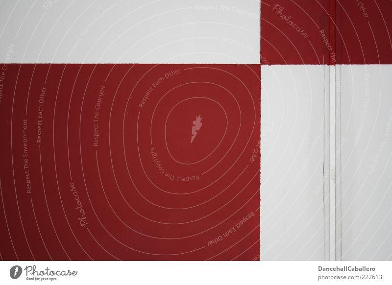 rot & weiß Farbe Wand Innenarchitektur Mauer Gebäude Stein Stil Linie Hintergrundbild Kunst Raum Design Dekoration & Verzierung einfach