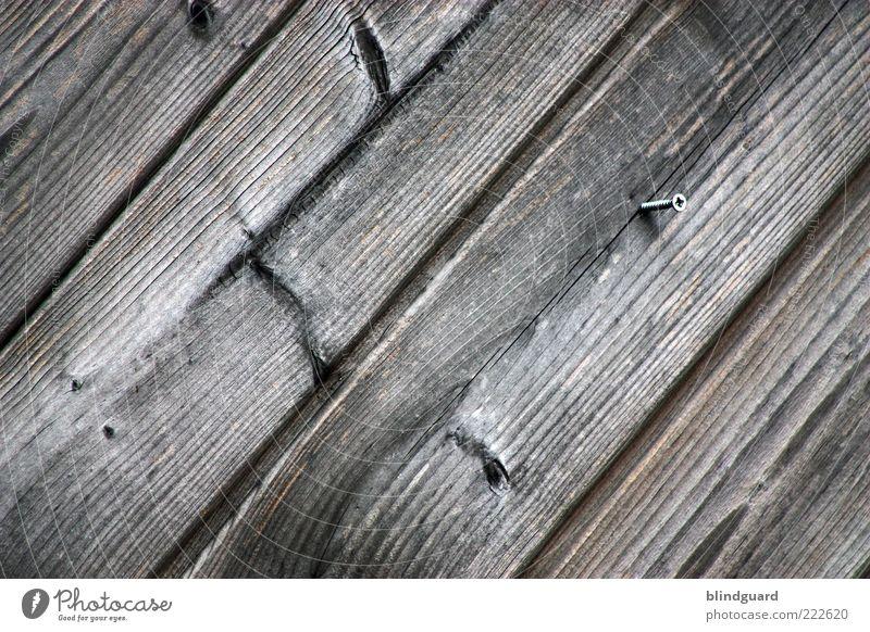 Turn The Screw Holz braun schwarz Holzbrett Schraube Strukturen & Formen diagonal verwittert Astloch Hintergrundbild Farbfoto Außenaufnahme Menschenleer