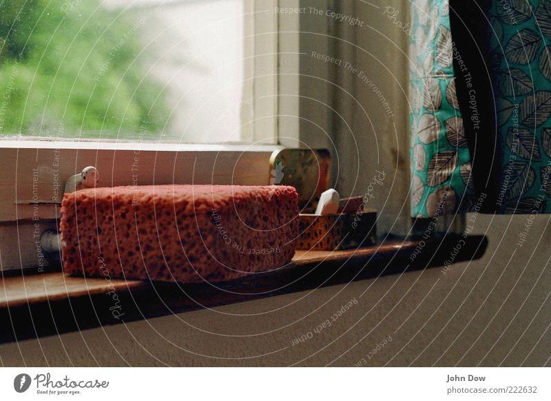 Damals war es Friedrich Raum Kreide Schwamm Vorhang Dose Fensterbrett früher Innenaufnahme Textfreiraum oben Textfreiraum unten Fensterrahmen Fensterscheibe