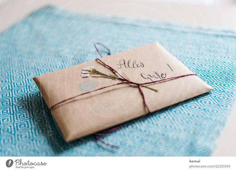 Alles Gute Lifestyle Freizeit & Hobby Kunst Verpackung Paket Dekoration & Verzierung Geschenk Brief Zeichen Schriftzeichen außergewöhnlich schön einzigartig