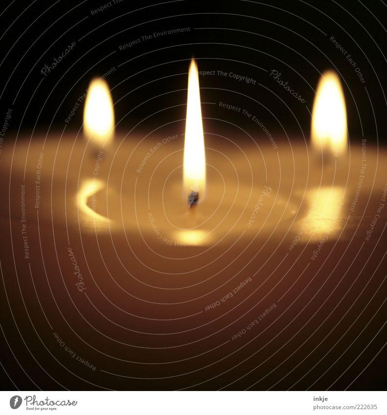Kerzenlicht weiß ruhig Erholung Stimmung hell Zufriedenheit leuchten Hoffnung Romantik Kerze Warmherzigkeit rein brennen Wohlgefühl harmonisch Geborgenheit