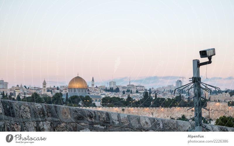 Stadt der | Spannung Jerusalem Palästina Kirche Dom Bauwerk Mauer Wand Sehenswürdigkeit Wahrzeichen Denkmal Felsendom Tempelberg Schutz Aggression Angst Ärger
