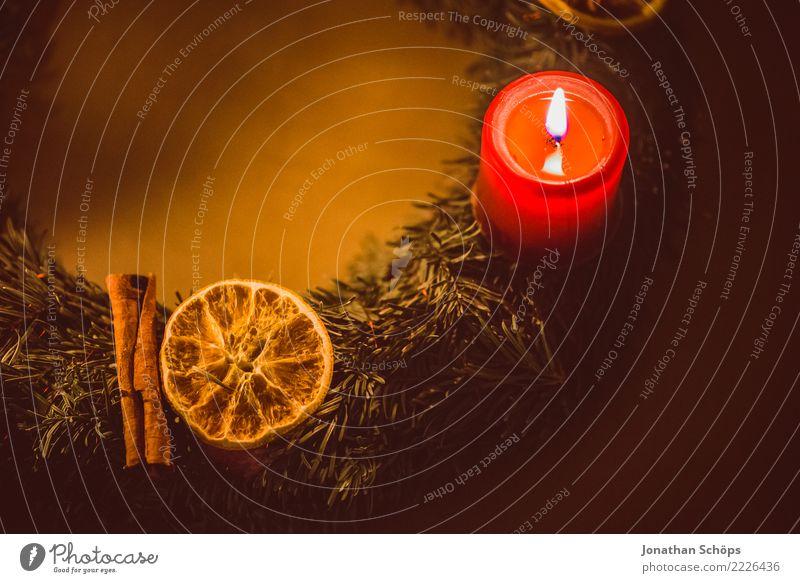 Adventskranz II Weihnachten & Advent rot Wärme Beleuchtung Stimmung hell Häusliches Leben leuchten Dekoration & Verzierung Hoffnung Kerze Wohlgefühl Meditation