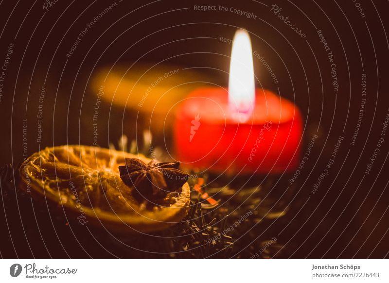 Adventskranz IV Weihnachten & Advent Detailaufnahme Kerzendocht Docht Flamme Licht Makroaufnahme Nahaufnahme Reisig Stimmung Tradition Wachs Zimt Zitrone