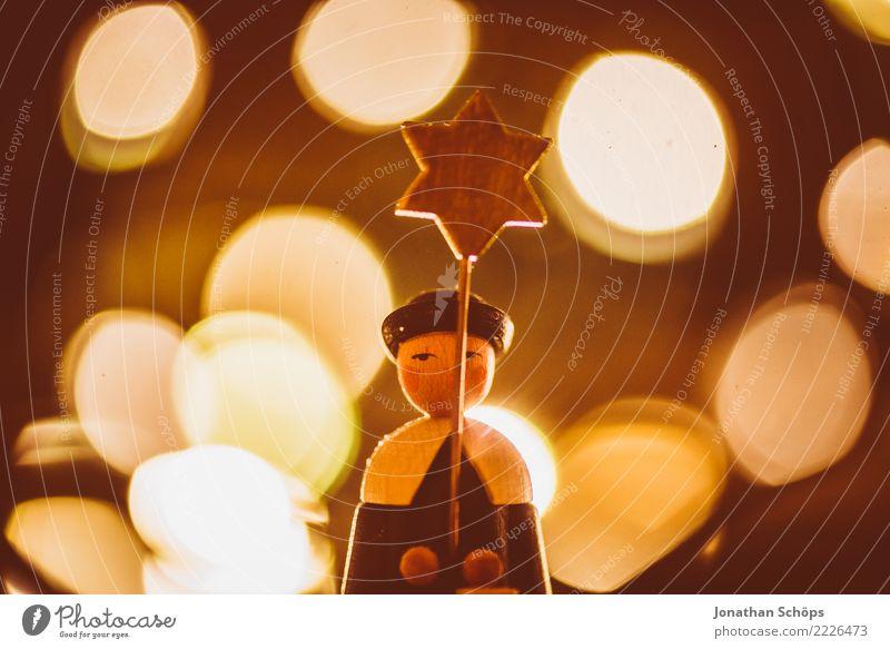 Weihnachtsdeko mit Bokeh XV Dekoration & Verzierung Weihnachten & Advent Sänger Wärme hell Stimmung Hoffnung Tradition Erzgebirge Erzgebirgskunst Figur