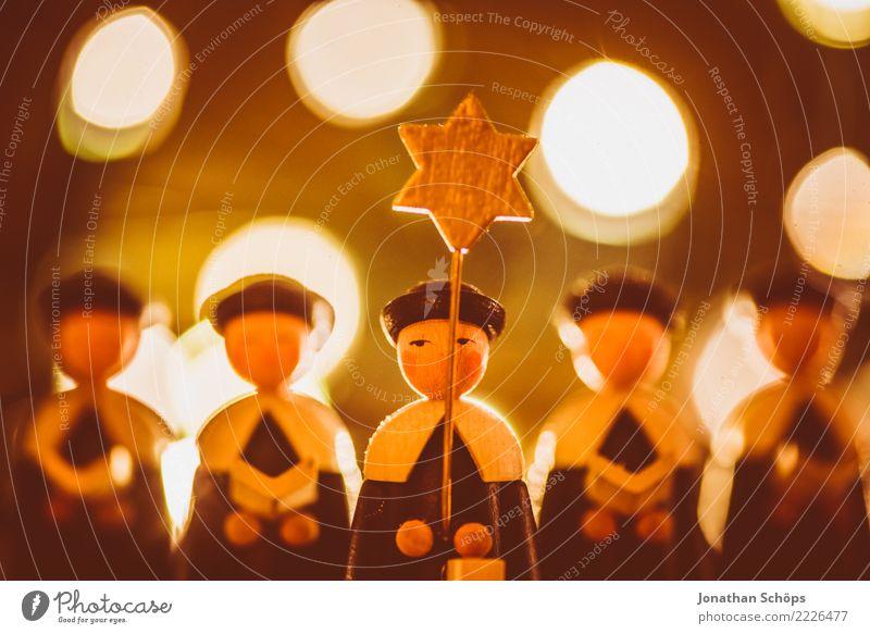 Weihnachtsdeko mit Bokeh XIII Weihnachten & Advent Wärme Stimmung hell leuchten Dekoration & Verzierung Stern (Symbol) Hoffnung Tradition Figur selbstgemacht