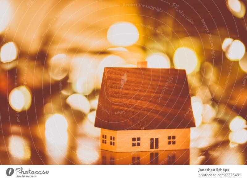 Weihnachtsdeko mit Bokeh IV Haus Dekoration & Verzierung Weihnachten & Advent Wärme hell Stimmung Hoffnung Tradition Erzgebirge Erzgebirgskunst Holzhaus