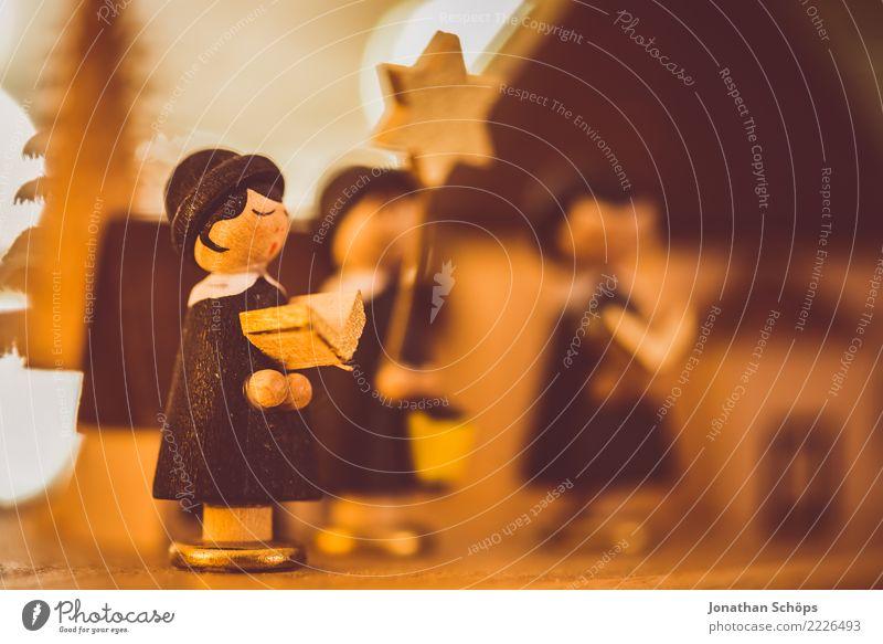 Weihnachtsdeko mit Bokeh XII Weihnachten & Advent Wärme Stimmung hell Dekoration & Verzierung Hoffnung Tradition Figur selbstgemacht besinnlich Sänger