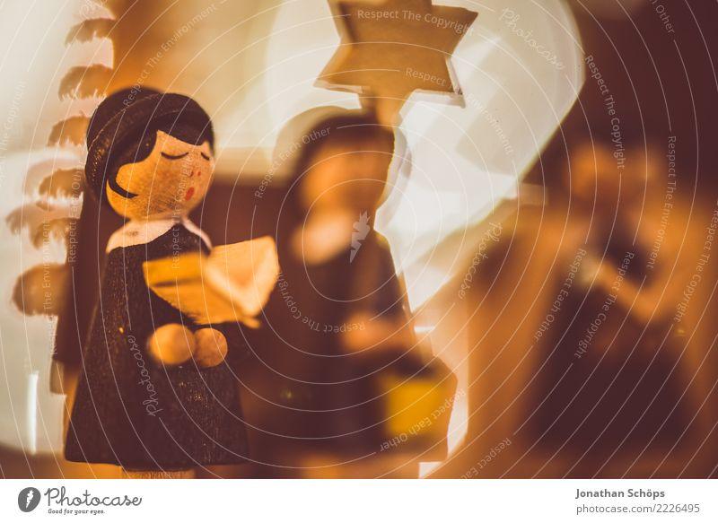 Weihnachtsdeko mit Bokeh XI Weihnachten & Advent Wärme Stimmung hell Dekoration & Verzierung Hoffnung Tradition Figur selbstgemacht besinnlich Sänger