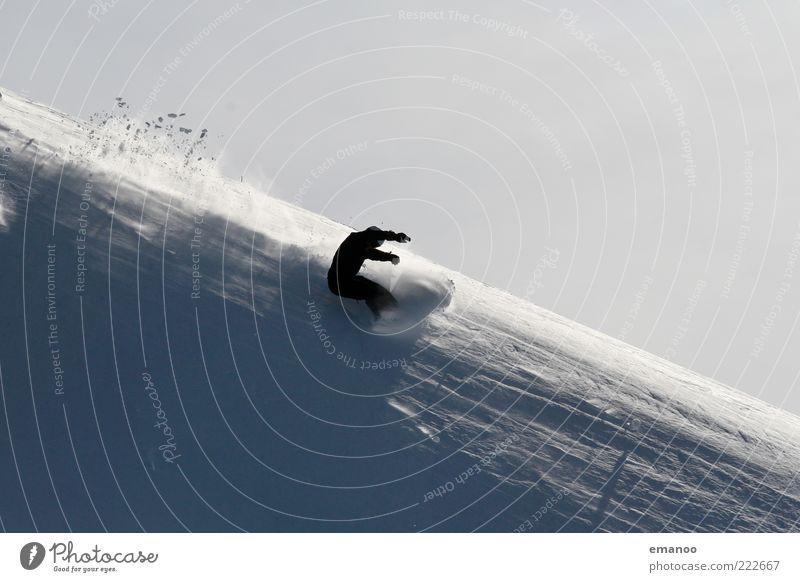 pow(d)er life Mensch Ferien & Urlaub & Reisen Jugendliche Junger Mann Freude Winter 18-30 Jahre Berge u. Gebirge Erwachsene Schnee Stil Sport Lifestyle Freiheit