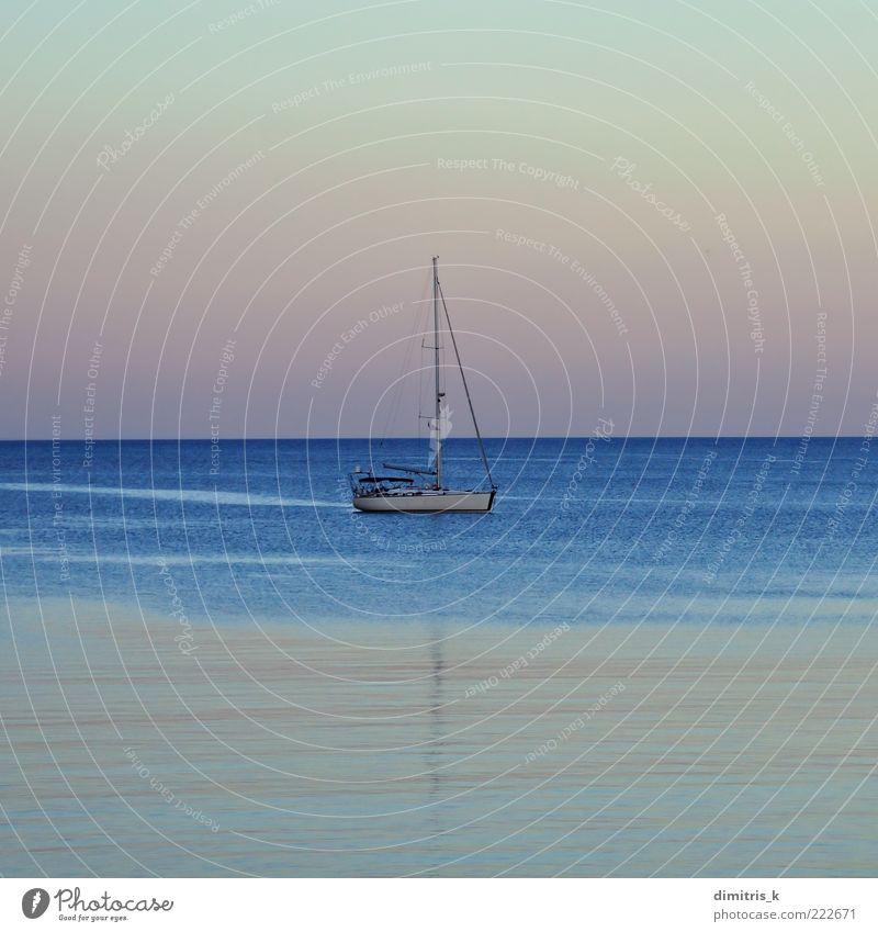 Himmel Natur blau schön Ferien & Urlaub & Reisen Meer ruhig Farbe Landschaft Küste Wasserfahrzeug Horizont Hintergrundbild Ausflug Verkehr Segeln
