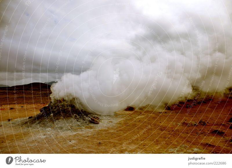 Island Himmel Natur Wolken dunkel Landschaft Wärme Stimmung Umwelt Erde bedrohlich wild natürlich fantastisch heiß außergewöhnlich Rauch