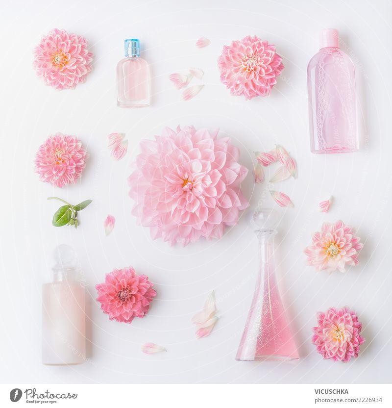 Rosa Naturkosmetik Produkte mit Blumen kaufen elegant Stil Design schön Körperpflege Kosmetik Parfum Creme Gesundheit Dekoration & Verzierung Ornament Entwurf