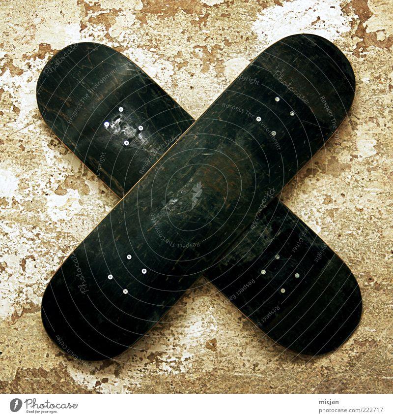 Sk8flake  Urban Snowflake alt schwarz Wand Holz Kunst Schilder & Markierungen rund kaputt Dekoration & Verzierung Buchstaben Kreuz Skateboard schäbig Skulptur hängen Nagel