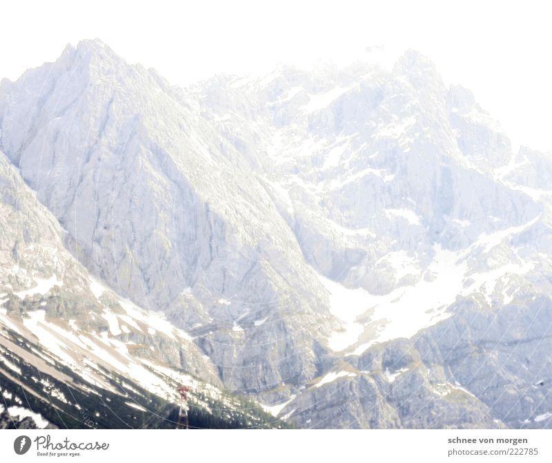 gletschergarten Umwelt Natur Landschaft Urelemente Klima Wetter Eis Frost Schnee Felsen Alpen Berge u. Gebirge Gipfel Schneebedeckte Gipfel Gletscher Farbfoto