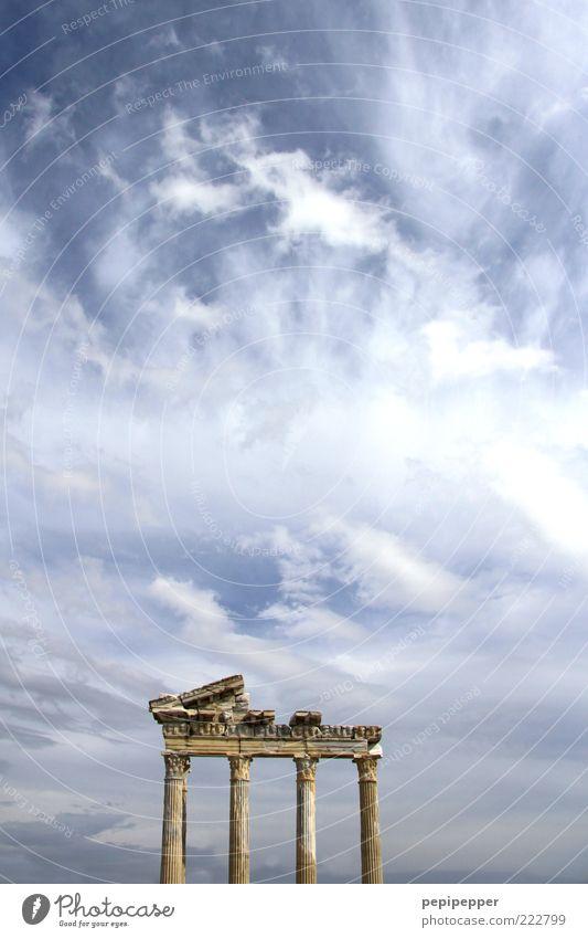 zeitreise alt Sommer Ferien & Urlaub & Reisen Ferne Freiheit Stein Architektur groß Ausflug ästhetisch Tourismus außergewöhnlich Bauwerk Ruine Säule