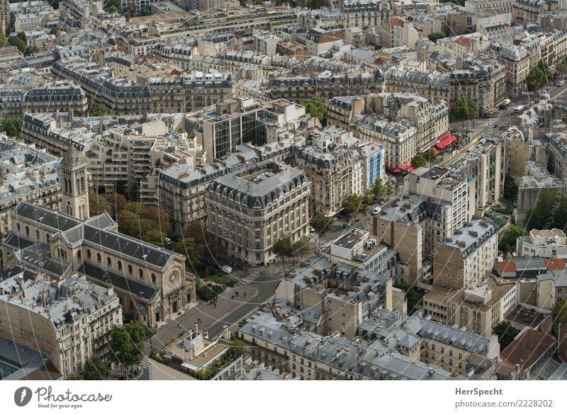 Paris von oben Ferien & Urlaub & Reisen Tourismus Ausflug Sightseeing Städtereise Montparnasse Hauptstadt Stadtzentrum Altstadt Fußgängerzone bevölkert Haus