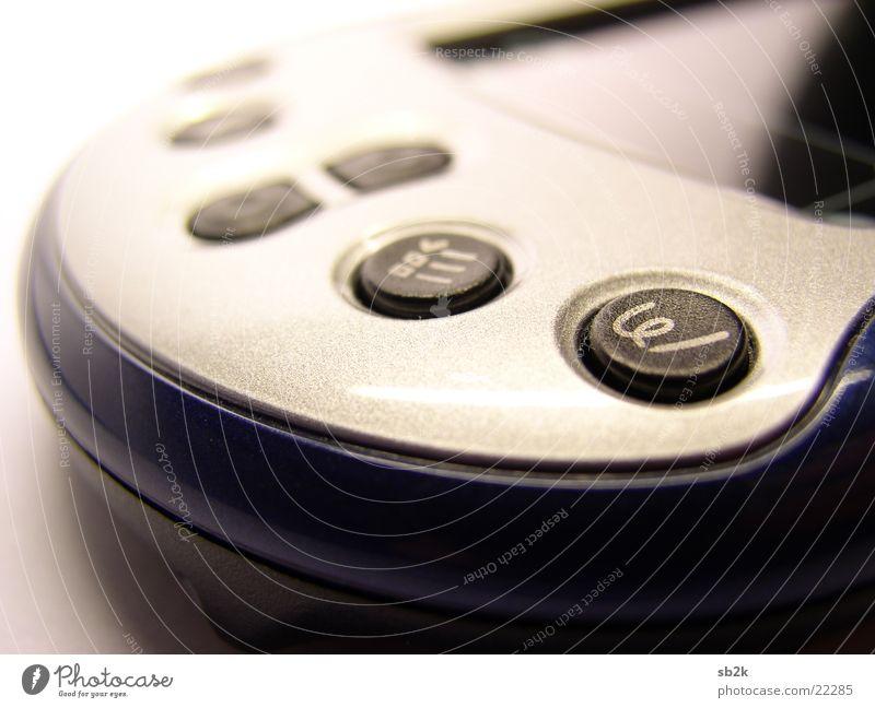 Palm Buttons PDA dunkel weiß schwarz Makroaufnahme Nahaufnahme m130 quick keys quick start Buttons hell blau