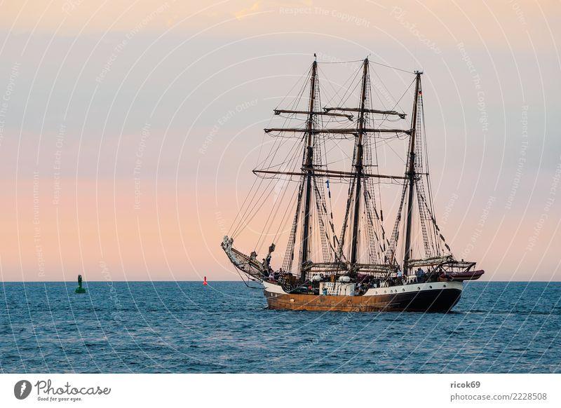 Segelschiff auf der Hanse Sail in Rostock Erholung Ferien & Urlaub & Reisen Tourismus Segeln Wasser Küste Ostsee Schifffahrt maritim Romantik Idylle Nostalgie