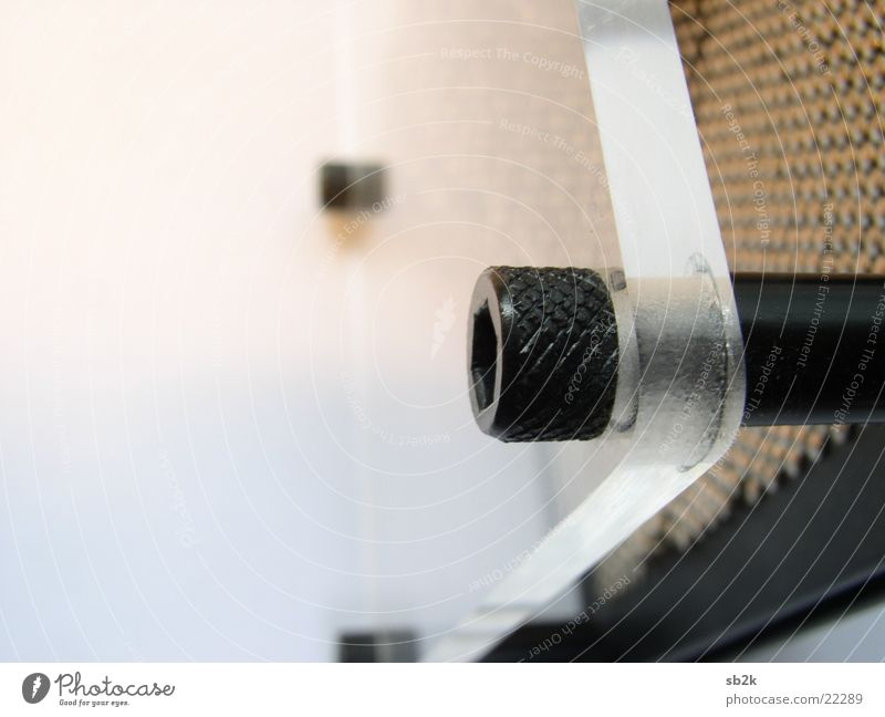 im Detail Nagel Schraube Unschärfe Licht Physik Makroaufnahme Nahaufnahme Glas hell Wärme Nagelbrett