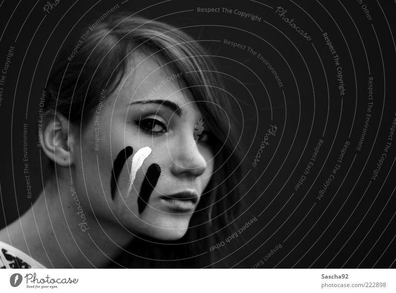 photocase steht wohl auf porträts Mensch Jugendliche schön Gesicht Auge feminin Gefühle Stimmung Angst Streifen Ohr Lippen Warmherzigkeit Vertrauen Porträt
