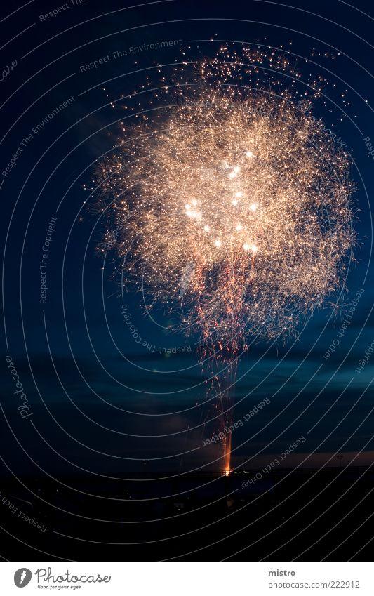 Pusteblume Himmel weiß rot Sommer schwarz dunkel kalt Party Küste Feste & Feiern Silvester u. Neujahr Show leuchten Feuerwerk Veranstaltung silber