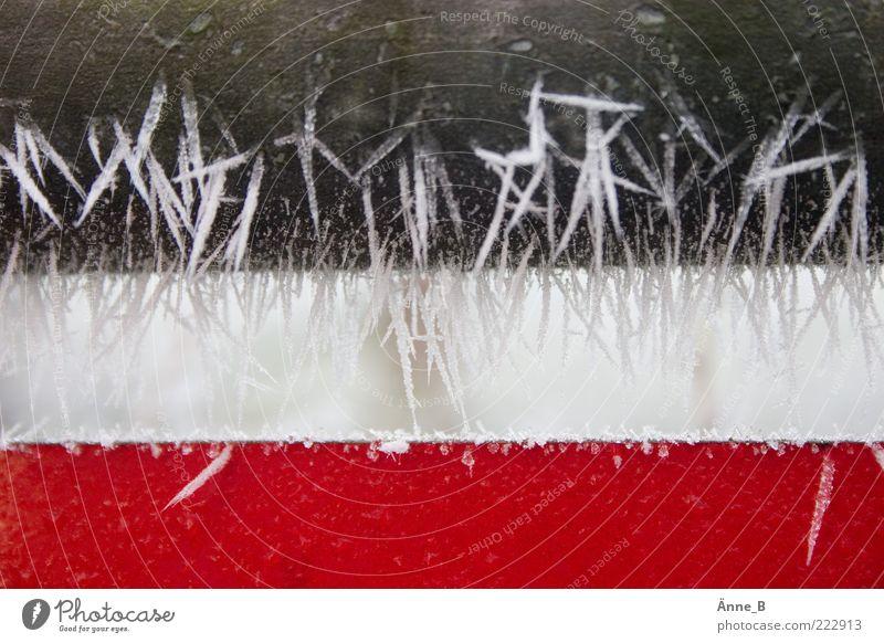 Frostiger Streifen Urelemente Winter Eis Straßenverkehr Verkehrszeichen Verkehrsschild Metall Kunststoff Kristalle Zeichen Schilder & Markierungen Hinweisschild