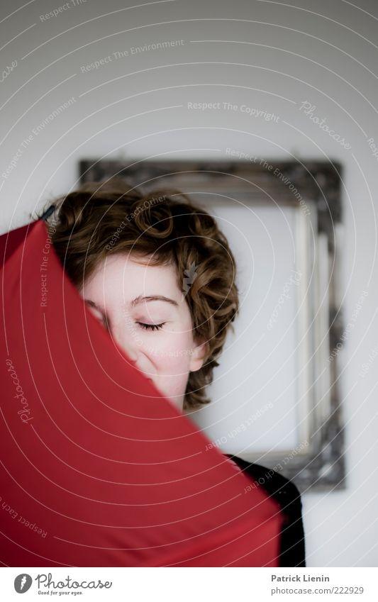 Don´t be shy Frau Mensch Jugendliche schön Gesicht Leben Kopf Haare & Frisuren Glück Stil Erwachsene träumen Stimmung Haut Hintergrundbild