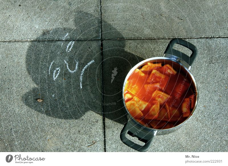 Der Geist des guten Geschmacks Lebensmittel Ernährung Appetit & Hunger lecker Abendessen Kreide Mahlzeit Mittagessen Topf Vitamin Ärger Zeichnung Bodenplatten