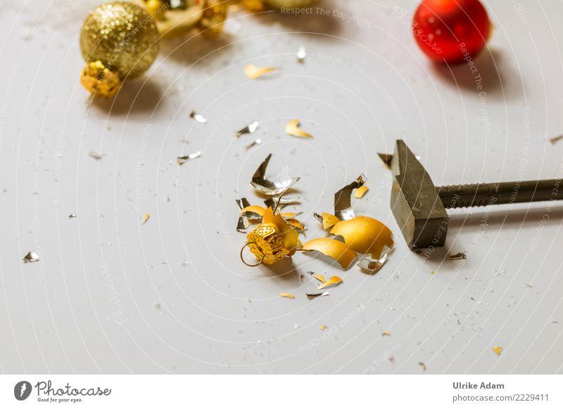 Null Bock auf Weihnachten Feste & Feiern Weihnachten & Advent Silvester u. Neujahr Hammer Christbaumkugel Scherbe Glas Zeichen Kugel glänzend leuchten