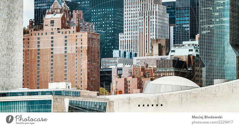 New York City Architektur. Stadt Haus Gebäude Stein Wohnung Büro modern Hochhaus Glas Aussicht USA einzigartig Grafik u. Illustration Ziel Stadtzentrum