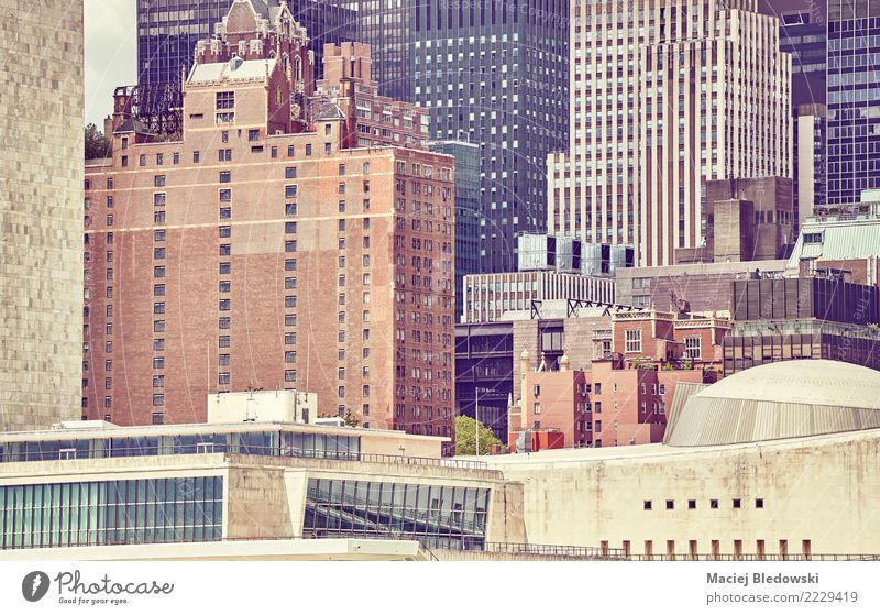 New Yorker Architektur. Häusliches Leben Wohnung Hausbau Arbeitsplatz Büro Stadt Stadtzentrum Hochhaus Bankgebäude Gebäude elegant modern reich klug Business