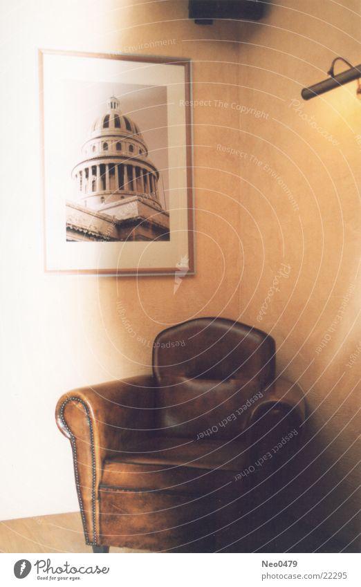 Alter Sessel Leder Häusliches Leben Bild alt
