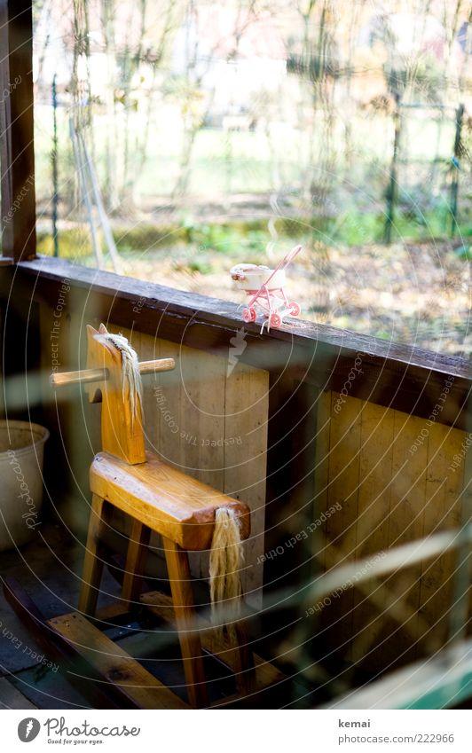 Manchmal wünsch ich mir mein Schaukelpferd zurück alt Haus Spielen Holz Raum Wohnung Freizeit & Hobby Dekoration & Verzierung Kindheit Häusliches Leben