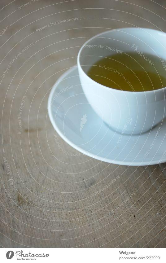grün in weiß Lebensmittel Ernährung Bioprodukte Getränk trinken Tee Tasse braun ästhetisch Zufriedenheit einzigartig Nachmittag Teetrinken rein karg Grüner Tee
