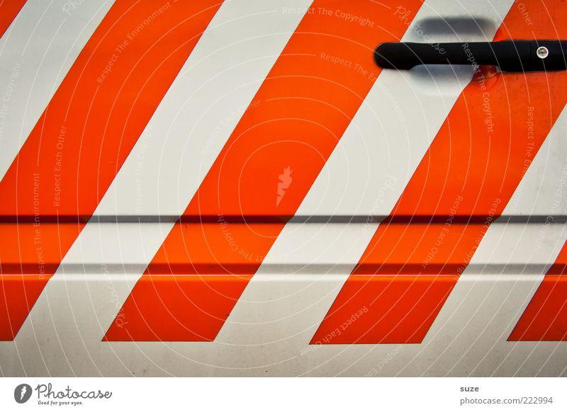 Orange PKW Metall Zeichen Linie Streifen eckig einfach modern neu Sauberkeit weiß Ordnungsliebe Autotür Baufahrzeug orange Griff Design Farbfoto mehrfarbig