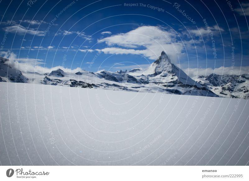 winter wonderland Himmel Natur Wasser blau Winter Wolken Ferne kalt Schnee Berge u. Gebirge Landschaft Eis hoch Frost Klima Schweiz