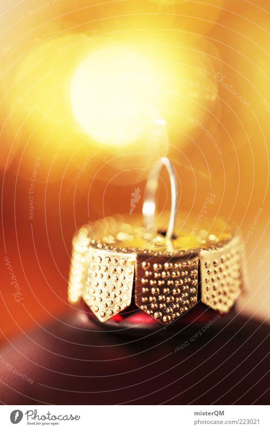 Golden Time. Kunst ästhetisch Weihnachten & Advent Weihnachtsdekoration Christbaumkugel Kerzenschein gold Vorfreude gemütlich Wärme glänzend edel