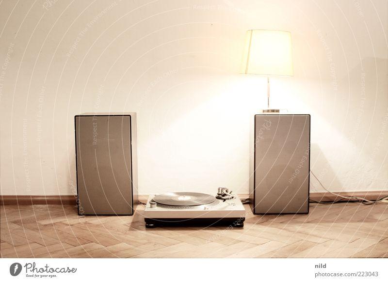 stereosystem Stil Holz Musik Lampe Raum Wohnung Design Lifestyle Freizeit & Hobby retro einfach Innenarchitektur Häusliches Leben Lautsprecher Wohnzimmer Diskjockey