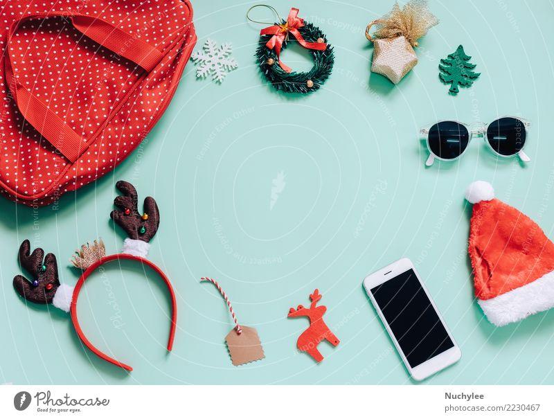 Frau Weihnachten & Advent Farbe grün Freude Erwachsene feminin Stil Mode Feste & Feiern Textfreiraum Design hell Dekoration & Verzierung modern