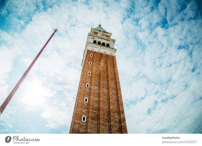 Campanile Ferien & Urlaub & Reisen Tourismus Ausflug Abenteuer Ferne Freiheit Sightseeing Städtereise Kreuzfahrt Sommer Sommerurlaub Himmel Wolken Venedig