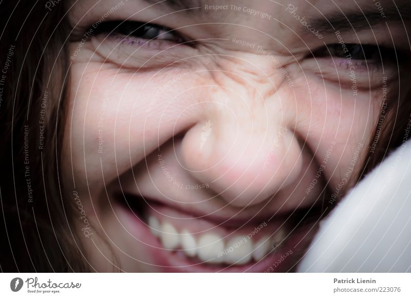 I like what you say Mensch Frau Jugendliche schön Freude Gesicht Erwachsene feminin Kopf lachen Glück lustig Stimmung Zufriedenheit glänzend natürlich